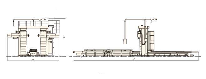 Дуплексные станки HKDB-F-серия - чертеж