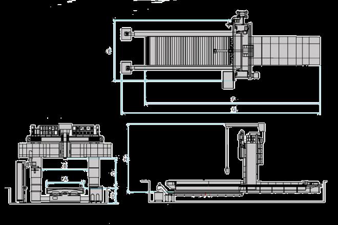 Продольно-фрезерные станки НРМ-H-серия - чертеж